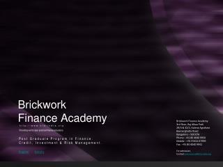 Brickwork Finance Academy:: Premier Finance Education