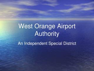 West Orange Airport Authority