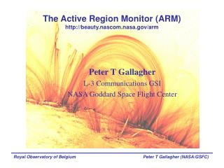 The Active Region Monitor (ARM) beauty.nascom.nasa/arm