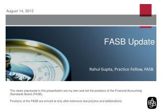 FASB Update