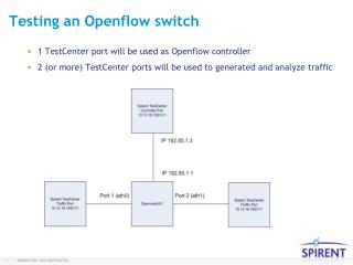 Testing an  Openflow  switch