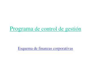 Programa  de control de gestión