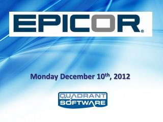 Monday December 10 th , 2012