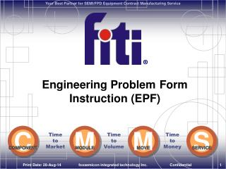 Engineering Problem Form  Instruction (EPF)