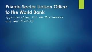 Private Sector Liaison Office to the World Bank
