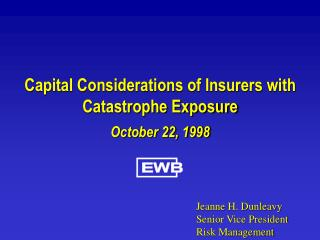 Capital Considerations of Insurers with Catastrophe Exposure
