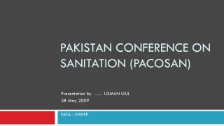 Pakistan Conference on sanitation ( pacosan )