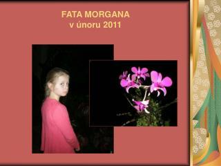 FATA MORGANA v únoru 2011