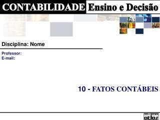 10 -  FATOS CONTÁBEIS