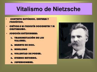 Vitalismo de Nietzsche