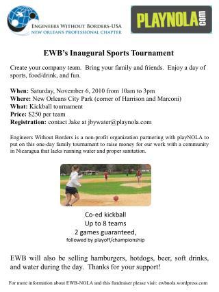 EWB�s Inaugural Sports Tournament