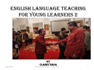 English Language Teaching For Young Learners 2