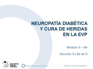 NEUROPATÍA Diabética  Y CURA DE HERIDAS  EN LA EVP