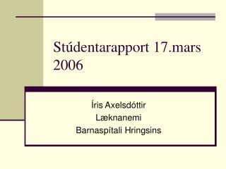 Stúdentarapport 17.mars 2006