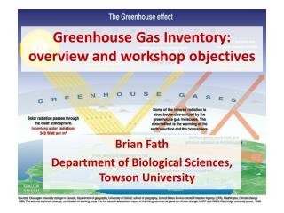 Greenhouse Gas Inventory: overview and workshop objectives