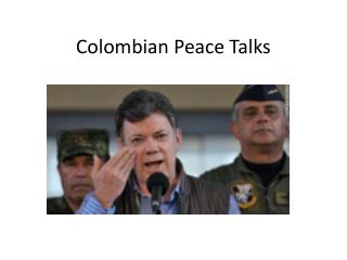 Colombian Peace Talks