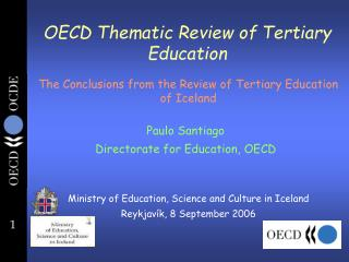 OECD Thematic Review of Tertiary Education