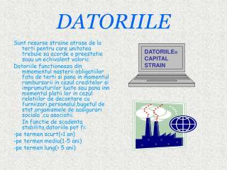 DATORIILE