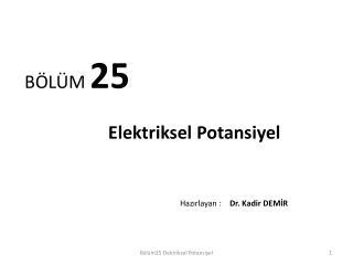 BÖLÜM  25