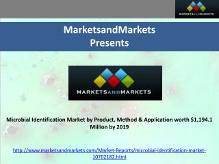 Microbial Identification Market by Product, Method & Applica