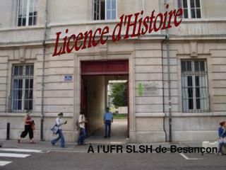 À l'UFR SLSH de Besançon.