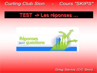 Curling Club Sion     -    Cours