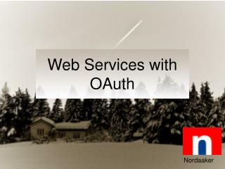Web Services with OAuth