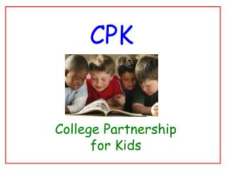 College Partnership for  Kids