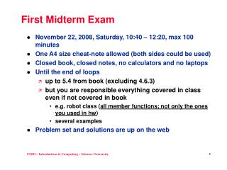 First Midterm Exam