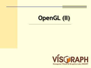 OpenGL (II)