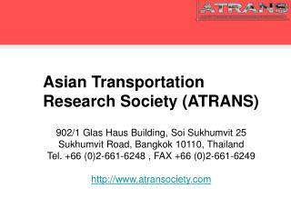 Asian Transportation Research Society ATRANS