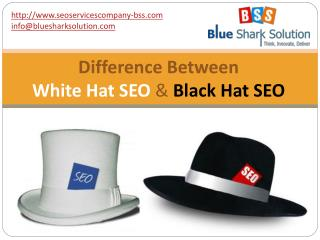 Difference between white hat SEO and black hat SEO: