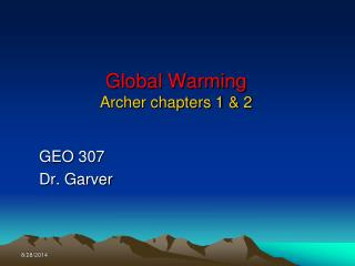 Global Warming Archer chapters 1 & 2
