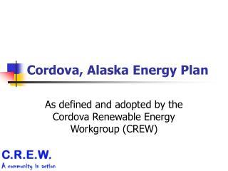 Cordova, Alaska Energy Plan