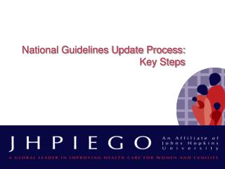National Guidelines Update Process: Key Steps