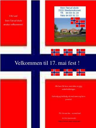 FAU ved  Sten-Tærud skole ønsker velkommen!