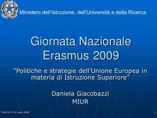 Giornata Nazionale Erasmus 2009