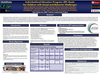 Individualized Education Program (IEP) Goals For Children with Social and Behavior Challenges