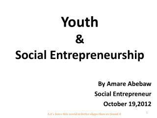 Youth  & Social Entrepreneurship