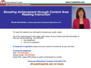Session 62 HOW TO IMPLEMENT A SUCCESSFUL ADOLESCENT LITERACY ...