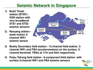 Seismic Network in Singapore