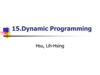 15.Dynamic Programming