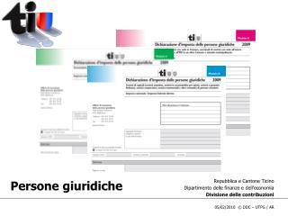 Repubblica e Cantone Ticino Dipartimento delle finanze e dell'economia