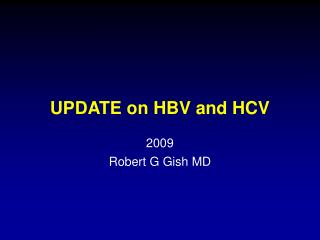 UPDATE on HBV and HCV