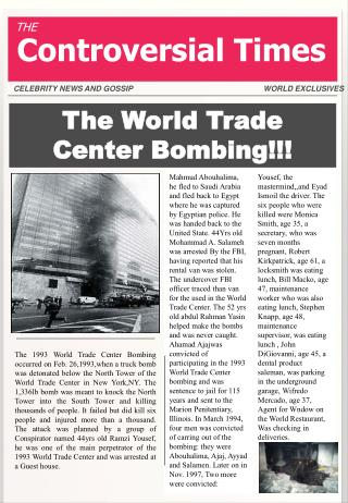 The World Trade Center Bombing!!!