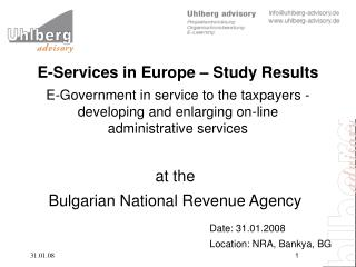 at the  Bulgarian National Revenue Agency