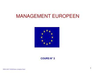 MANAGEMENT EUROPEEN