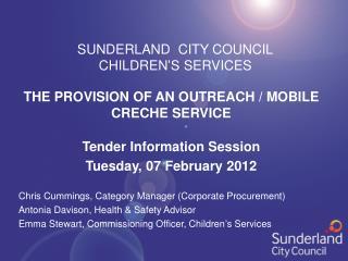 SUNDERLAND  CITY COUNCIL CHILDREN'S SERVICES