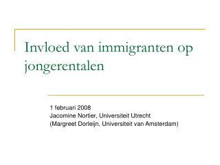 Invloed van immigranten op jongerentalen