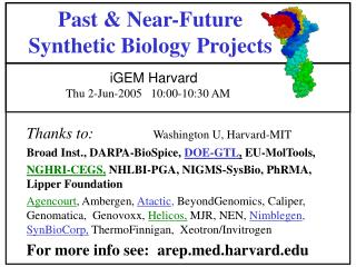 Past & Near-Future Synthetic Biology Projects